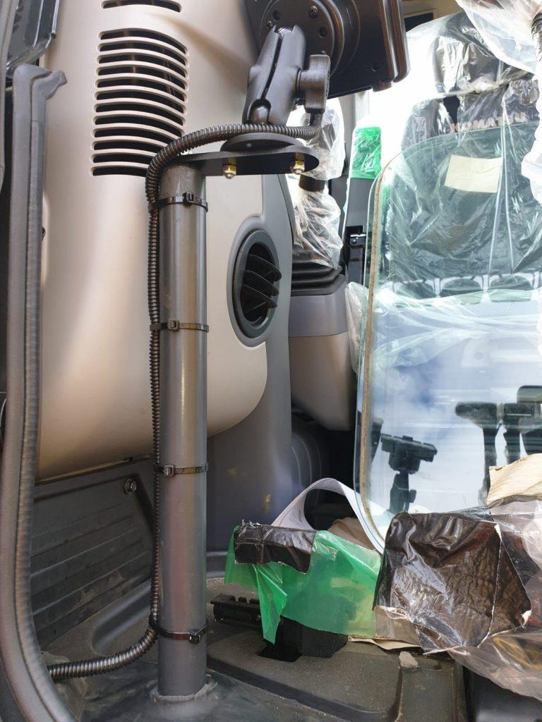 XWATCH capacity indicator on Komatsu excavator