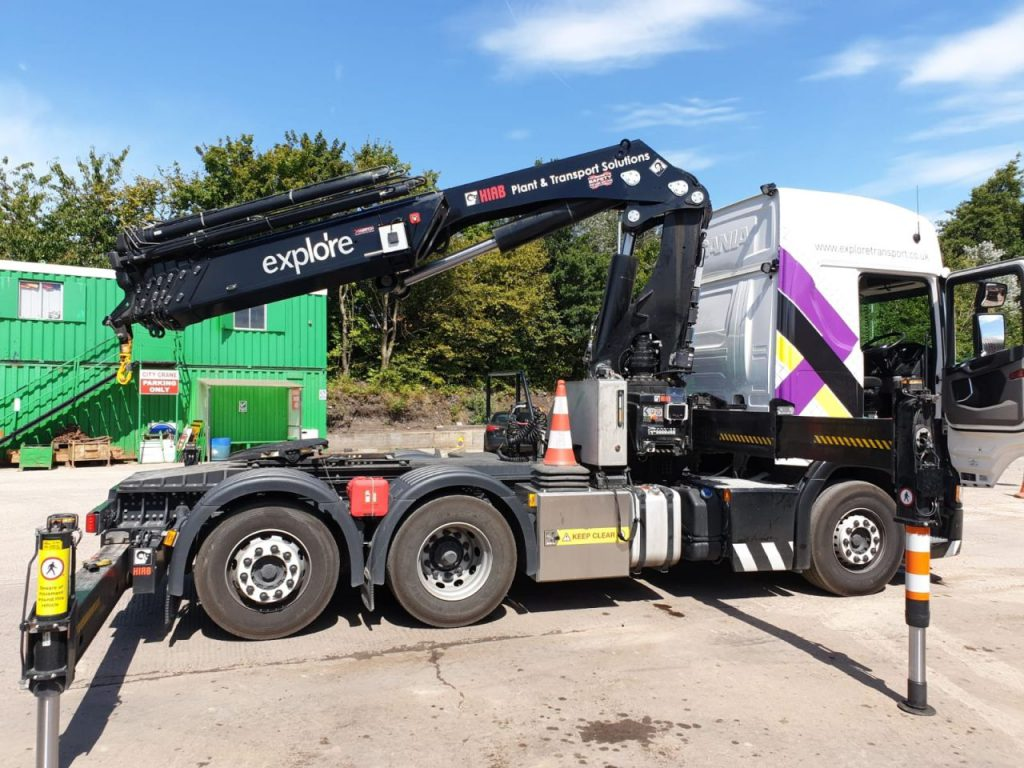 XWATCH installed on lorry mounted crane