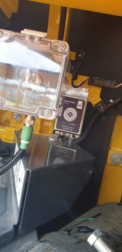 Prolec device fitted on plant machinery