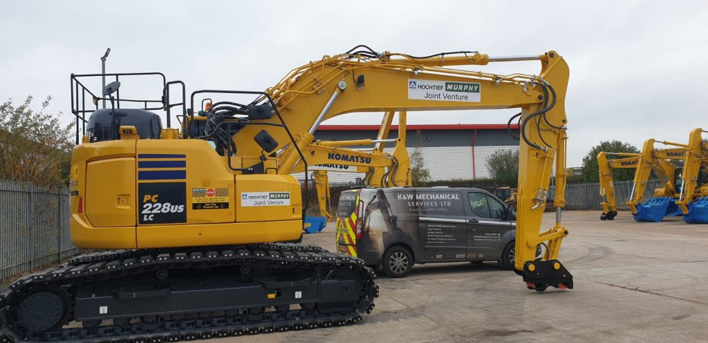 Heavy plant machinery with Prolec device