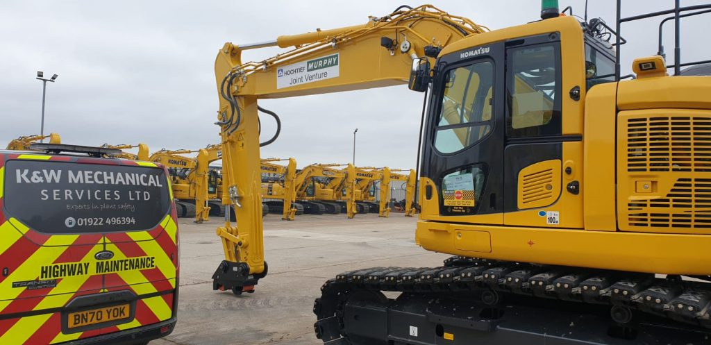 Heavy plant machinery with Prolec monitoring system